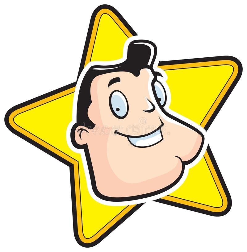 Estrela de cinema ilustração stock