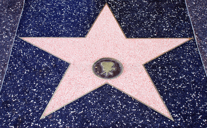 Estrela de cinema de Hollywood imagens de stock royalty free