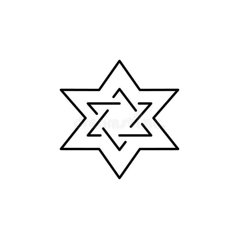 estrela de David, ícone do esboço da morte grupo detalhado de ícones das ilustrações da morte Pode ser usado para a Web, logotipo ilustração stock