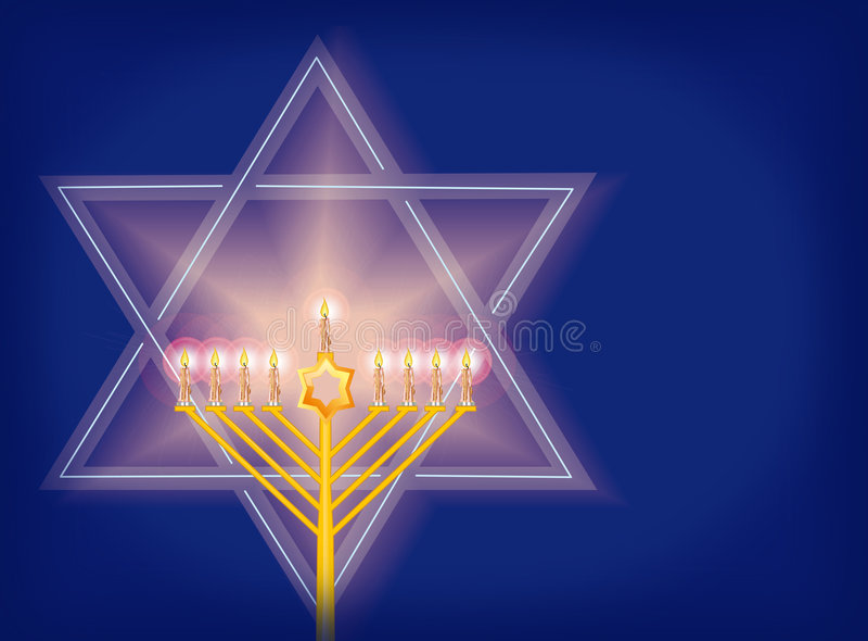 Estrela de David ilustração royalty free
