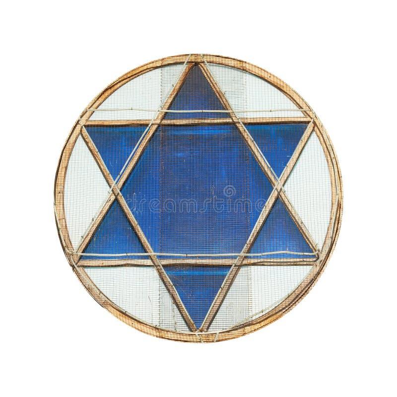 Estrela de David azul imagem de stock