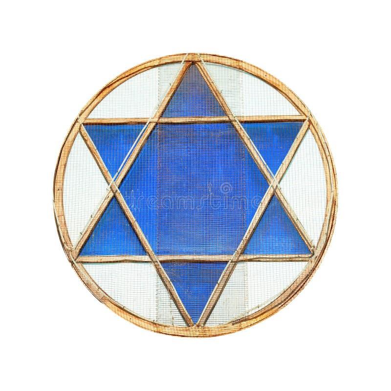 Estrela de David azul imagens de stock royalty free