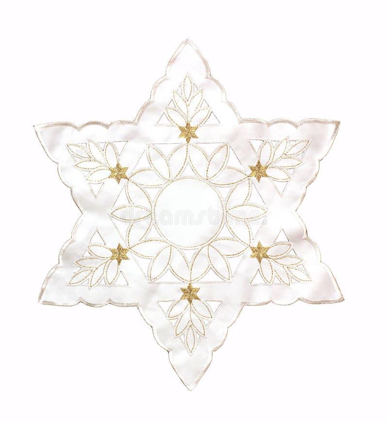 Estrela de David Estrela de David branca em um fundo branco imagens de stock royalty free