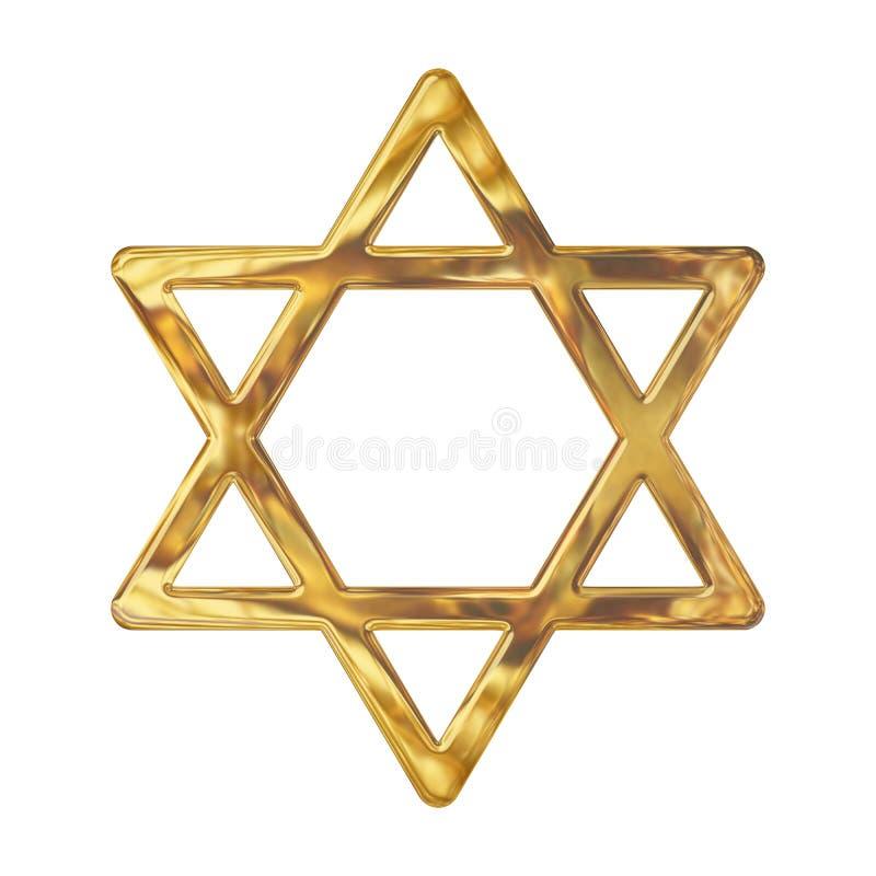 Estrela de David do ouro ilustração royalty free