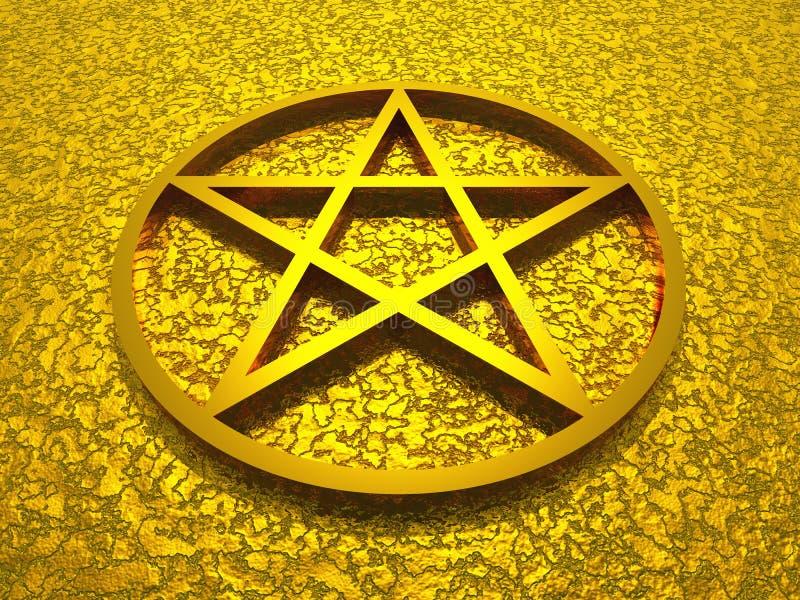 Estrela de David dourada ilustração stock