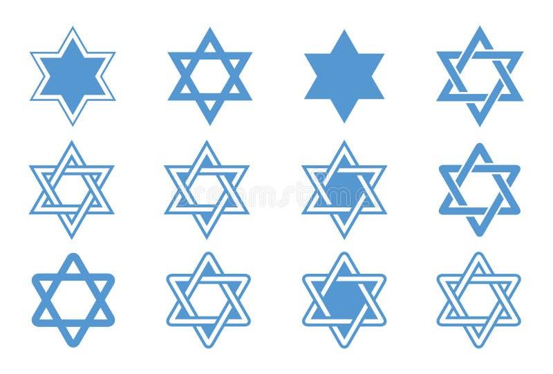 Estrela de David. Ilustração do vetor. ilustração do vetor