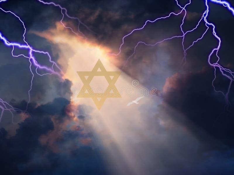Estrela de David ilustração do vetor