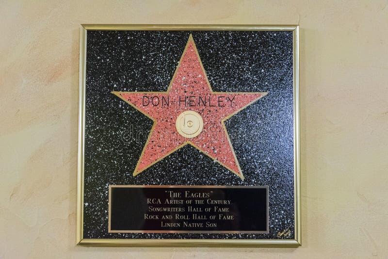 Estrela de Don Henley na cidade Texas Theater da música no Linden, TX imagens de stock royalty free