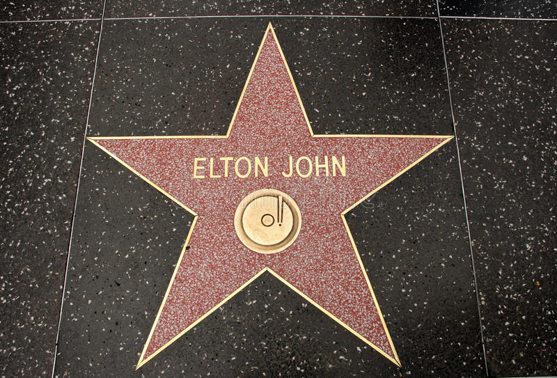 A estrela de Elton John fotografia de stock royalty free
