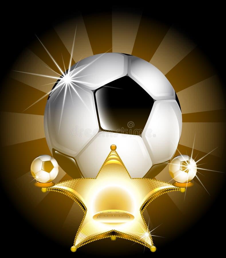 Estrela de futebol ilustração royalty free