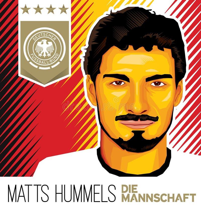 Estrela de futebol alemão de Matts Hummels ilustração do vetor