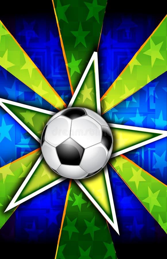 A estrela de futebol estourou o verde ilustração royalty free