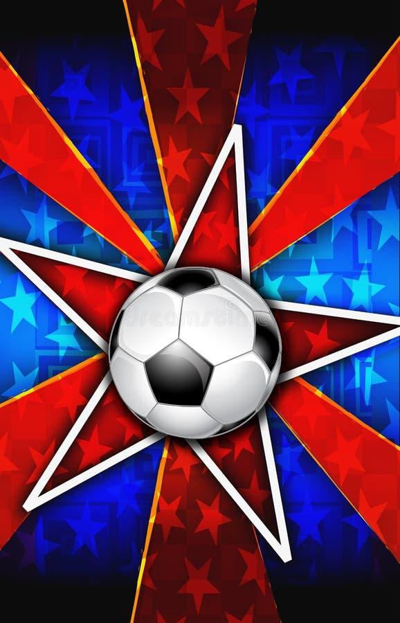 A estrela de futebol estourou o vermelho ilustração do vetor