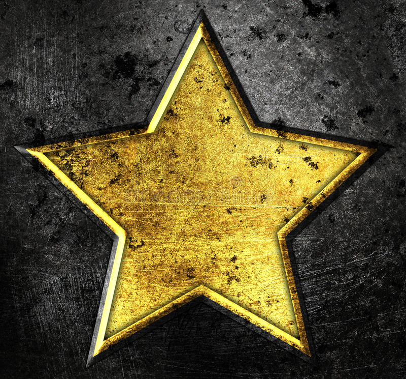 Estrela de Grunge ilustração stock