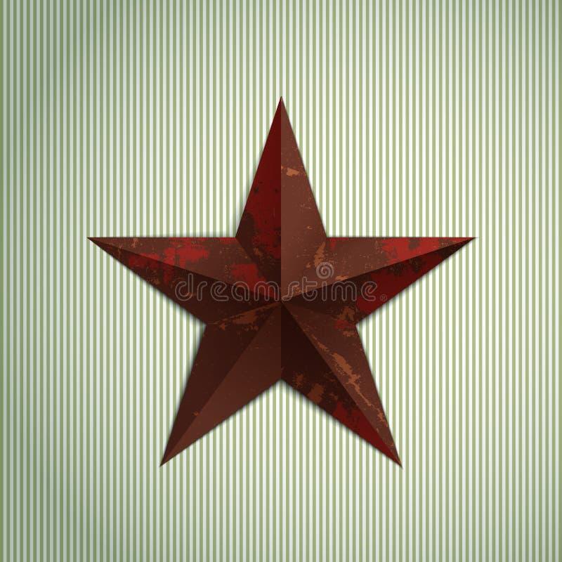 Estrela de Grunge ilustração do vetor