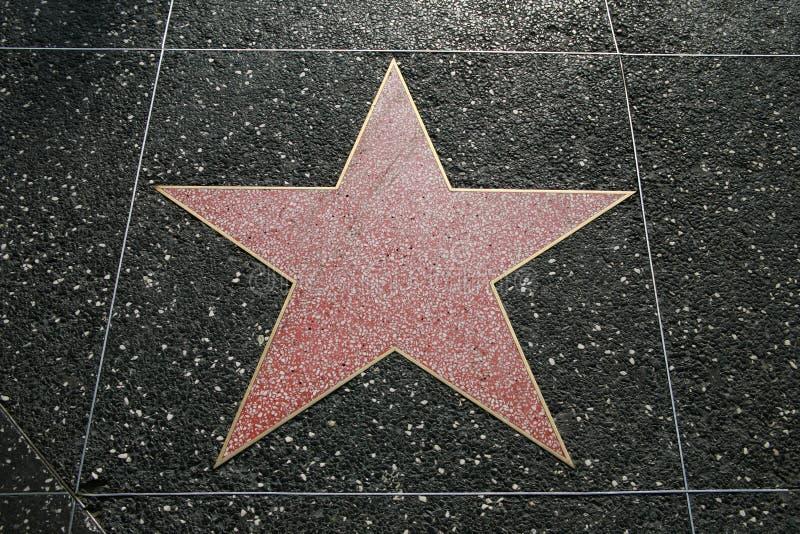 Estrela de Hollywood imagem de stock