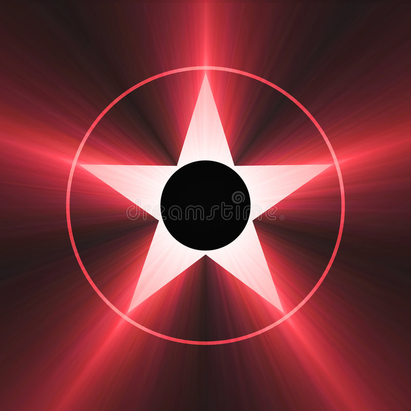 Estrela de Hollywood do alargamento vermelho da fama ilustração stock