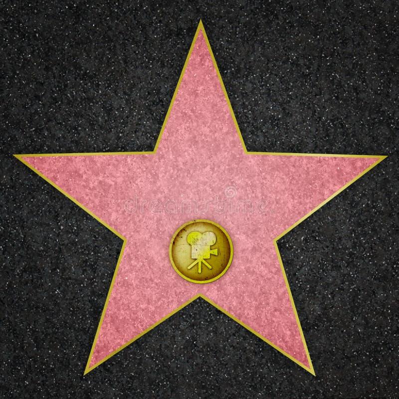 Estrela de Hollywood - estrela de cinema ilustração stock