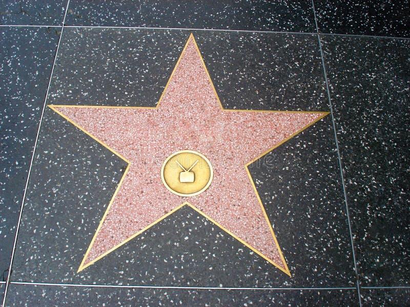 Estrela de Hollywood vazia no passeio do bulevar de Hollywood imagens de stock