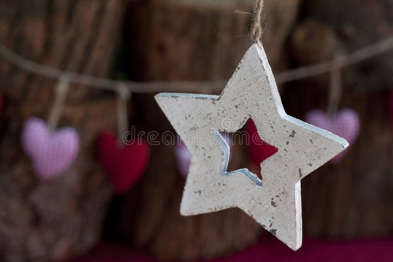 Estrela de madeira imagem de stock royalty free