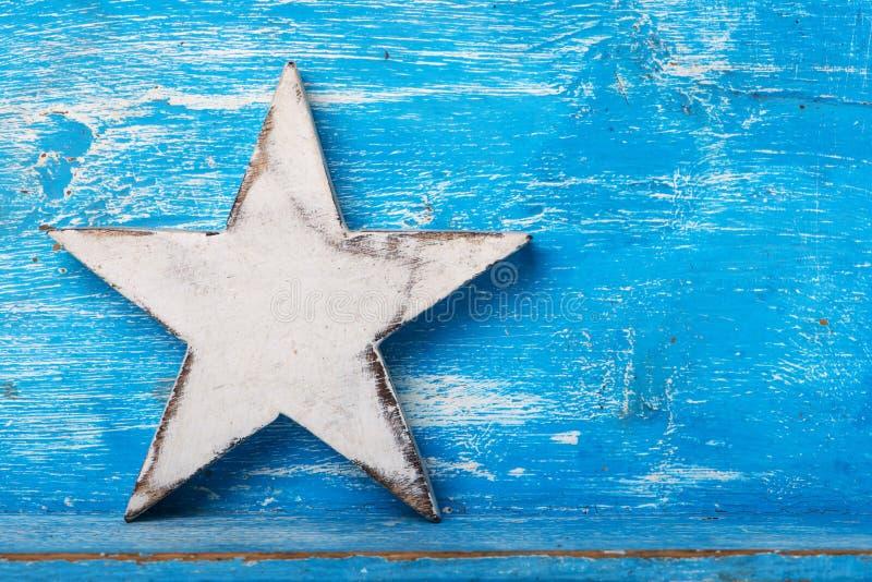 Estrela de madeira imagens de stock royalty free
