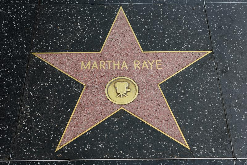 Estrela de Martha Raye na caminhada de Hollywood da fama foto de stock