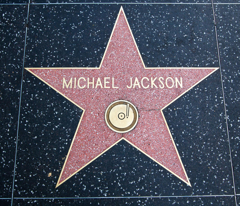 Estrela de Michael Jackson fotografia de stock