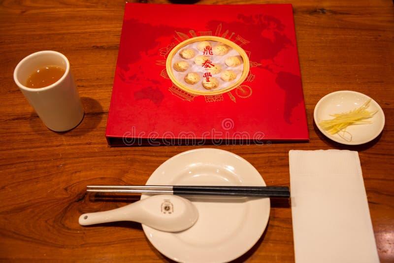 A estrela de Michelin concedeu DinTaiFung é classificada como um restaurante da parte superior 10 do mundo do melhor imagens de stock royalty free