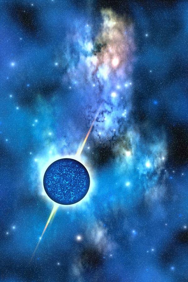 Estrela de nêutron ilustração royalty free
