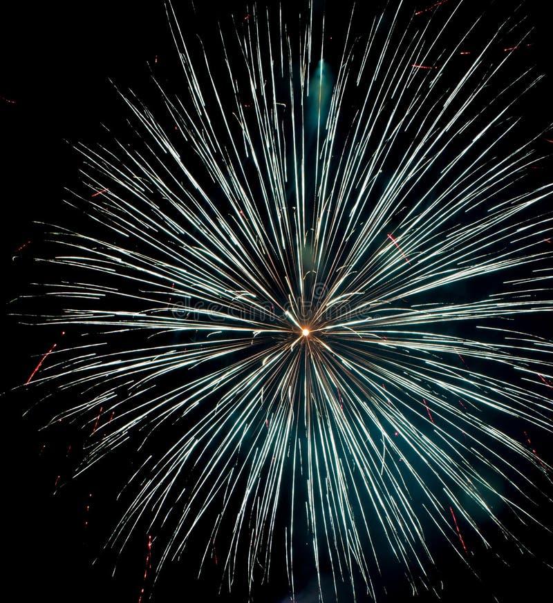 Estrela de prata bonita dos fogos-de-artifício imagem de stock royalty free