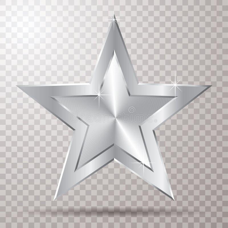 Estrela de prata do transporte ilustração royalty free