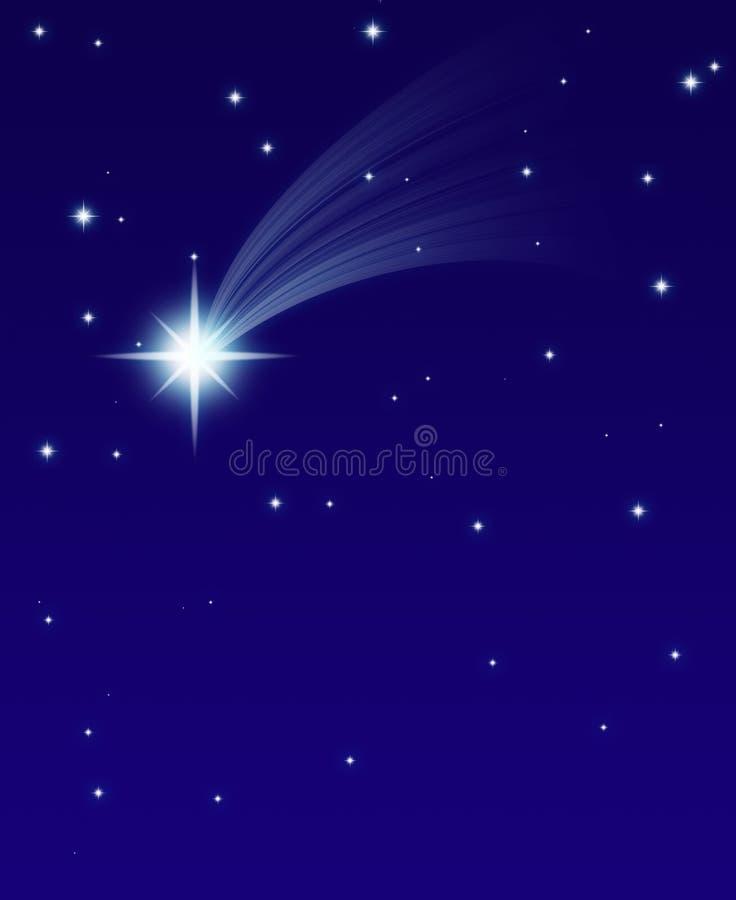 Estrela de queda ilustração royalty free