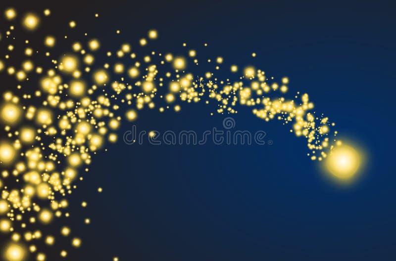Estrela de queda dourada ilustração royalty free