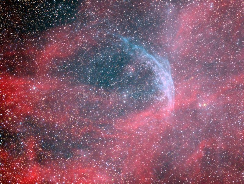 Estrela de Rayet do lobo WR134 e nebulosa do anel foto de stock