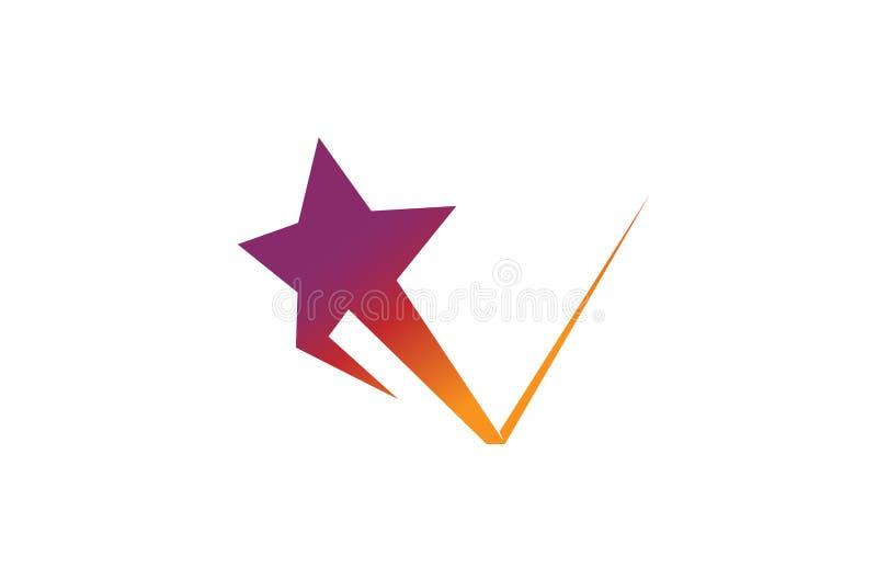 Estrela de salto criativa Logo Design Illustration ilustração royalty free