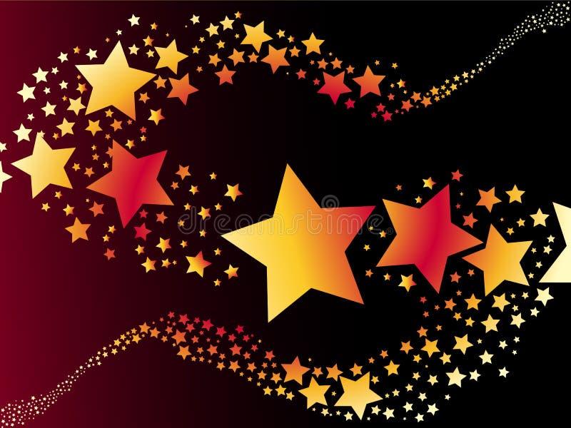 Estrela de tiro ilustração stock