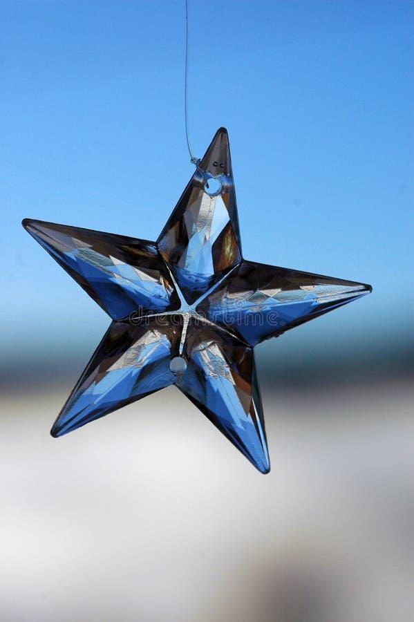 Estrela de vidro foto de stock