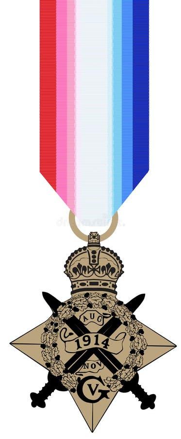 Estrela 1914 de WW1 Mons ilustração royalty free