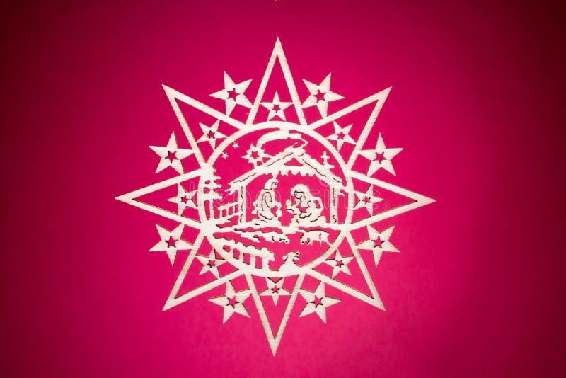 Estrela decorativa do Natal imagens de stock royalty free