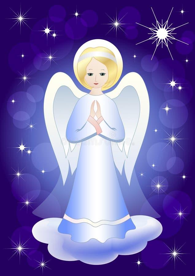 Estrela do anjo e do Natal. ilustração stock