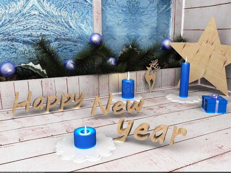 Estrela do ano novo feliz fotos de stock