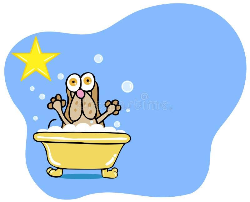Estrela do banho do cão - cão de Hound ilustração do vetor