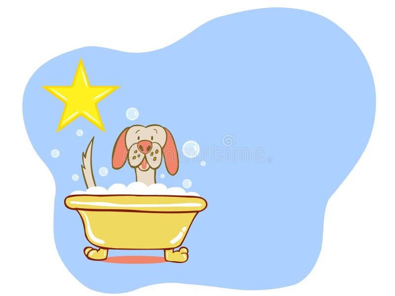 Estrela do banho do cão - Labrador ilustração stock