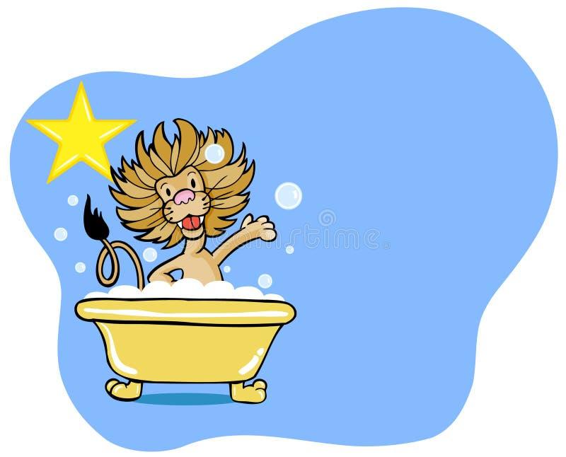 Estrela do banho do leão ilustração royalty free