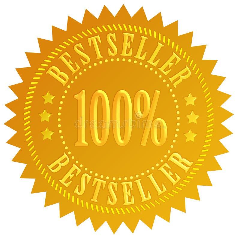 Estrela do bestseller ilustração stock
