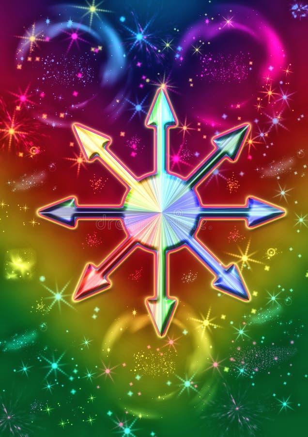 Estrela do caos ilustração do vetor