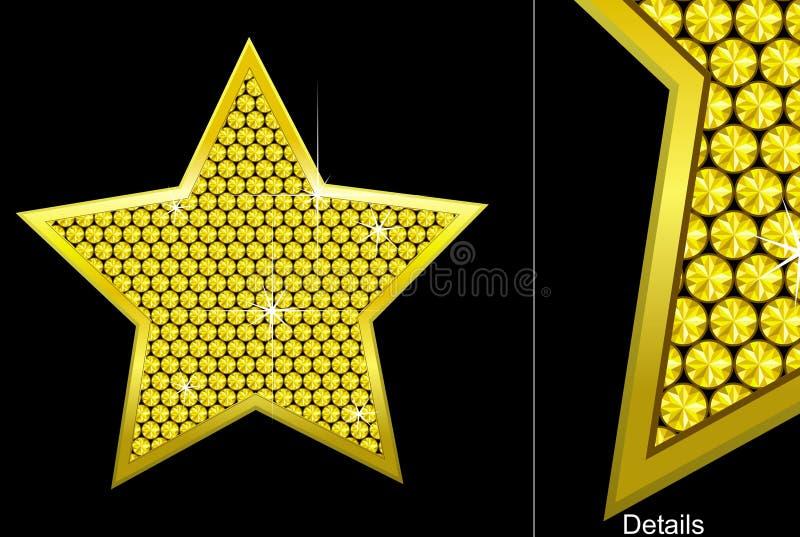 Estrela do diamante do vetor ilustração royalty free