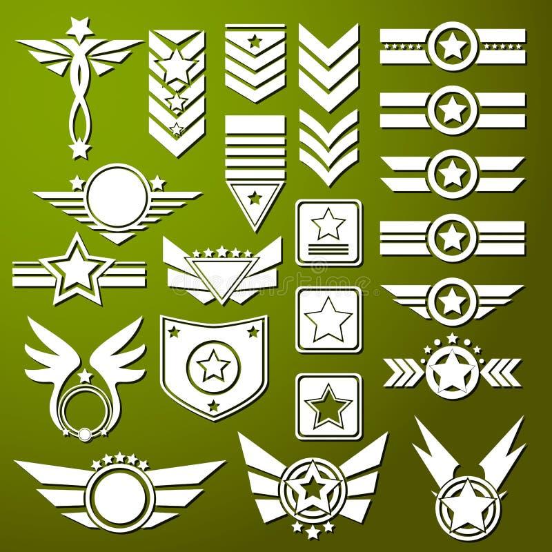 Estrela do exército ilustração stock