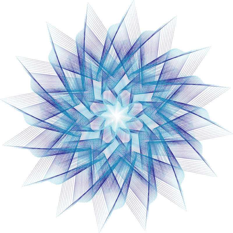 Estrela do Fractal ilustração do vetor