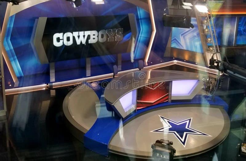 Estrela do grupo de fase da tevê dos meios de Dallas Cowboys TX imagem de stock royalty free